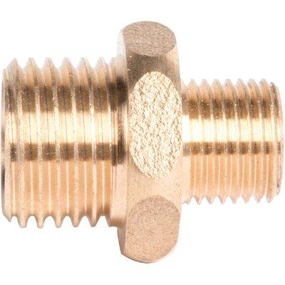 """Raccord laiton hexagonal réduit à visser - M 1/2"""" à visser - M 3/4"""" - 245G"""