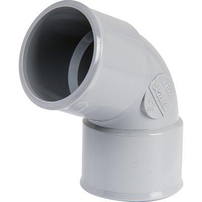 Raccord PVC gris coudé 67°30 - Ø 40 mm - Double emboîture - Nicoll