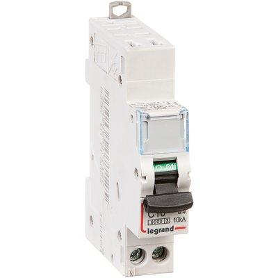 Disjoncteur DX³ 6000 - 10 kA courbe C - 10 A - 1 module - Connexion auto /
