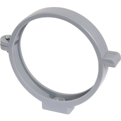 Collier à charnière PVC gris simple - Tube Ø 63 mm - Girpi