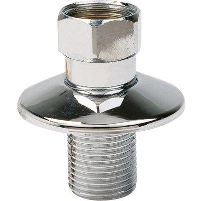 Raccord droit - Mâle / Femelle - Rosace diamètre 49 mm