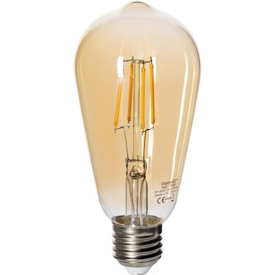 Ampoule ST64 Edison LED Filament Golden E27 5W