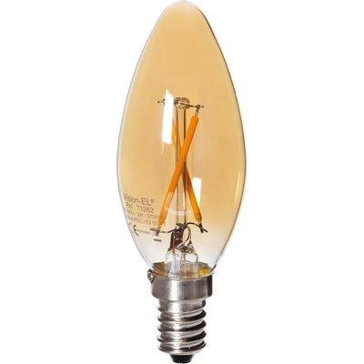 Ampoule flamme LED Filament Golden E14 2W