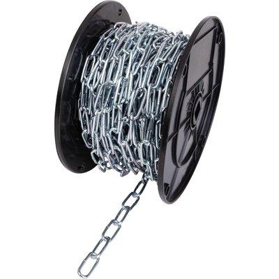 Bobine de chaîne acier zingué - Soudée droite - Maille longue