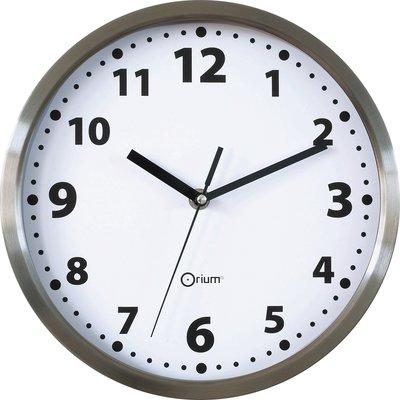 Horloge inox  Orium - ronde - Diamètre 34 cm