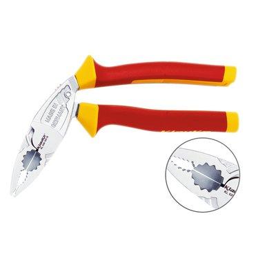 Pince universelle coudée - Taillant pour câble dur et doux - Isolée 1000 V