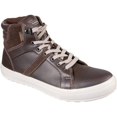Chaussures hautes de sécurité Vision - Cuir - Marron / Noir