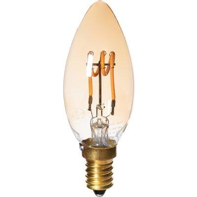 Ampoule LED flamme à filament E14 Amber Aric - 75 Lumens - 2,5 W