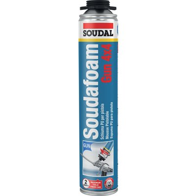 Mousse polyuréthane isolante Soudafoam - Pistolable - Contenance 750 ml