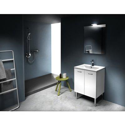 Meuble complet Eco avec plan céramique, miroir et applique LED