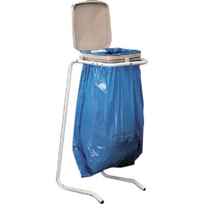 Support sac sur pieds à couvercle Mottez - Pour sac 30 / 120 l