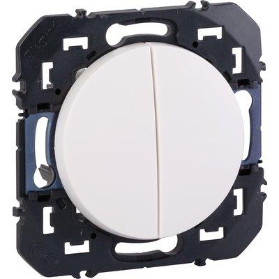 Double interrupteur ou va et vient composable blanc Dooxie - Legrand