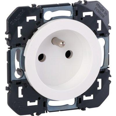 Prise de courant 2P+T à puits blanc composable Dooxie - Legrand