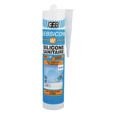 Mastic silicone Gebsicone W - Fongicide - Spécial sanitaire