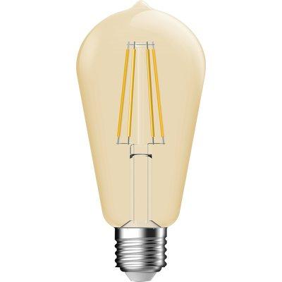Ampoule LED décorative ambrée à filament forme Edison E27 Dhome - 660 lm