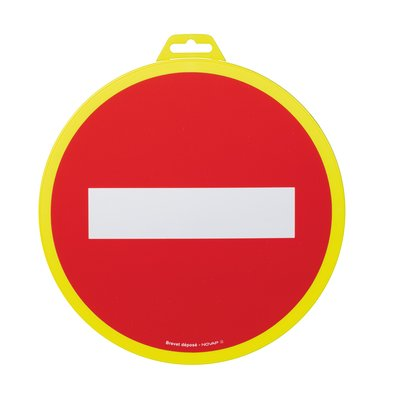 Panneau de signalisation sens interdit Novap - Diamètre 30 cm
