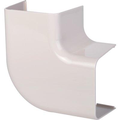 Coude plat 90° plastique rigide beige