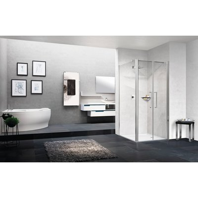 Porte douche battante - Young 2.0 - 2B - Vitrage transparent