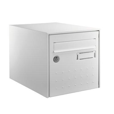 Boîte aux lettres blanche simple face - STEEL BOX -  Decayeux