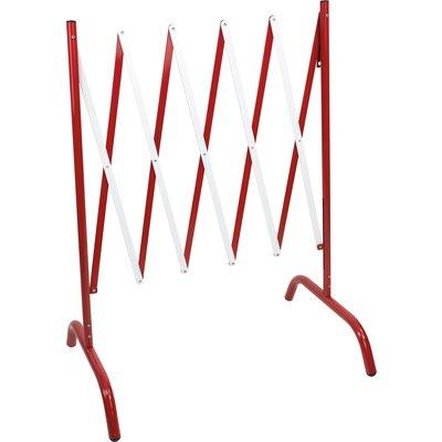 Barrière extensible droite Novap - Rouge/Blanc
