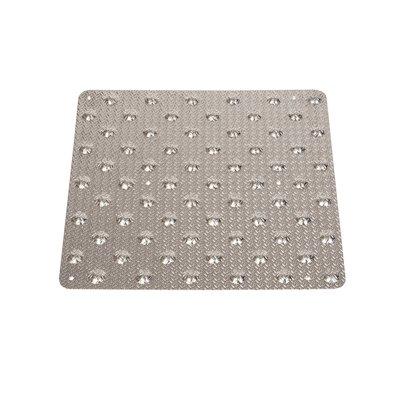 Dalle podotactile de vigilance à coller aluminium grain d'orge 958 x 420 mm