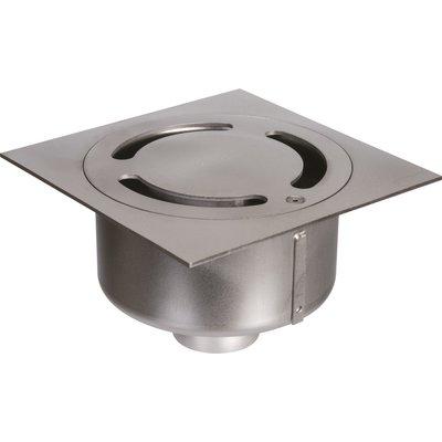 Siphon de sol Netdrain Standard ACO - Inox 304 sablée - Platine 200 x 200 m