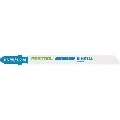 Lame de scie sauteuse métal S 75/4 FSG/5 Festool - Emmanchement en T - Bi-m