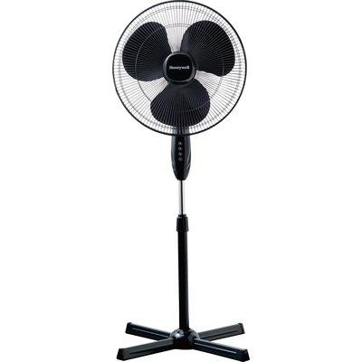 Ventilateur oscillant sur pied Honeywell - Noir - Pied en croix - Hauteur a