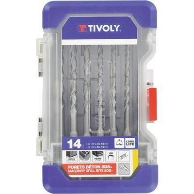 Forets à béton SDS Tivoly - Coffret de 14 pièces