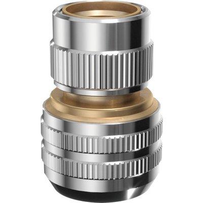 Raccord automatique pour tuyaux - Laiton chromé