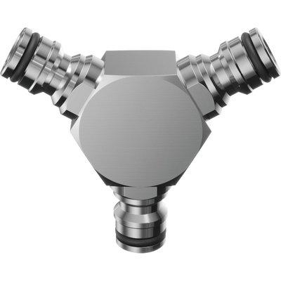 Déviateur à 3 voies - Laiton chromé - Raccords Quick-Click