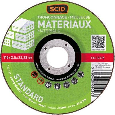 Disque à tronçonner moyeu déporté matériaux standard - Diamétre 230 mm