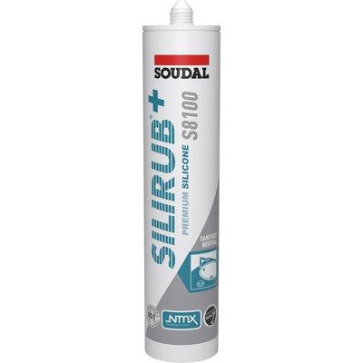 Mastic silicone Silirub+ S8100 - 300 ml - Gris