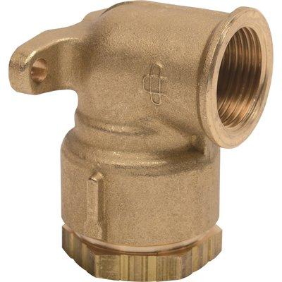 Applique filetée à serrage extérieur - Pour tube polyéthylène - Laiton - Fe