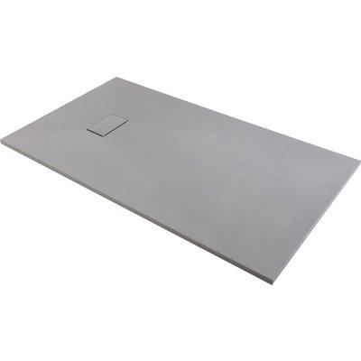 Receveur de douche extra-plat gris effet pierre Gaïa