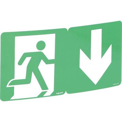 Étiquette de signalisation d'évacuation repositionnable - Recyclable - Avec