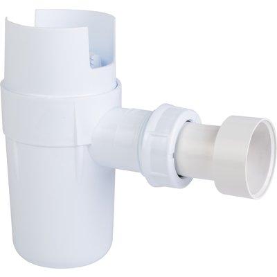 Siphon groupe de sécurité Nicoll - Plastique blanc - A coller