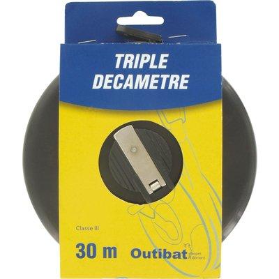 Mesure decamètre ruban fibre Outibat - Triple décamètre