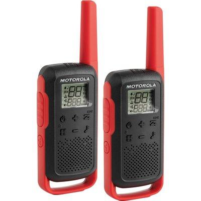 Paire de Talkie-Walkie T62 Motorola - Portée 8 km - Double alimentation - E