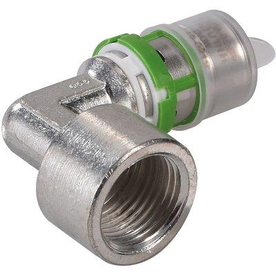 """Coude laiton multicouche à visser  Comap - Femelle 1/2"""" - Diamètre 16 mm"""