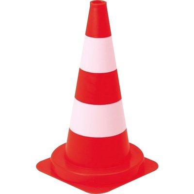 Lot de 5 cônes de signalisation - Hauteur 50 cm