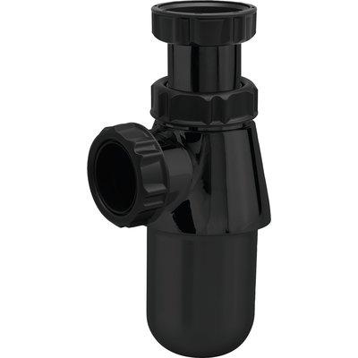 Siphon de lavabo à culot ABS Noir