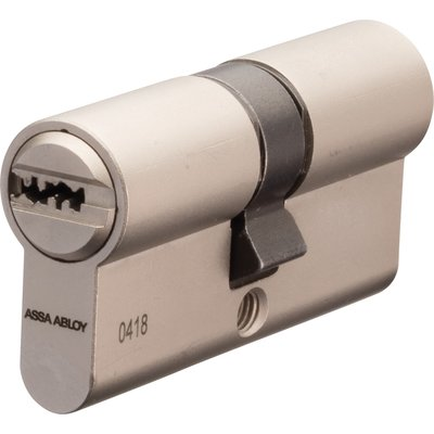 Cylindre 2 entrées varié CY110 - Nickelé - 3 clés