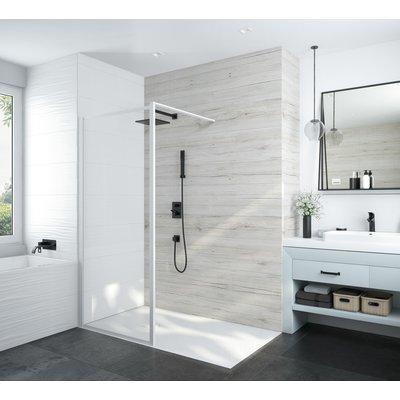 Paroi de douche ouverte Atout 3 Leda - Verre transparent - 120 cm