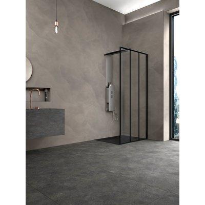 Paroi motif verrière - Profilés aluminium noirs