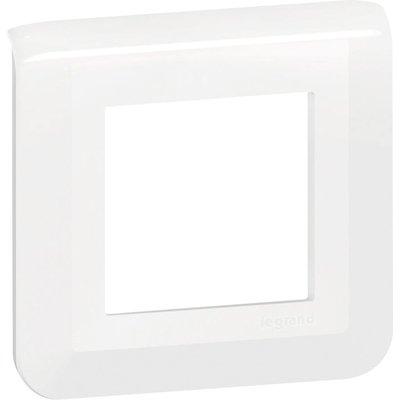 Plaque de finition Mosaic Legrand - 2 modules - Blanc