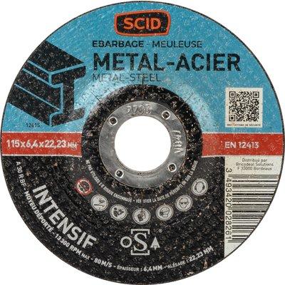 Disque à ébarber métaux professionnel - Diamètre 125 mm