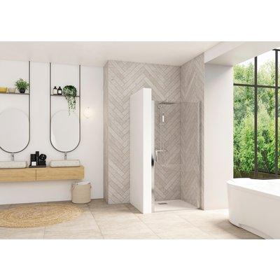 Porte de douche pivotante Smart Design - Sans seuil Porte - Verre transpare