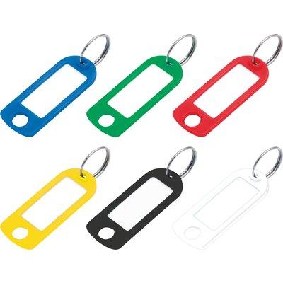 Porte-clés étiquette avec fenêtre - Plastique - Vendu par 100