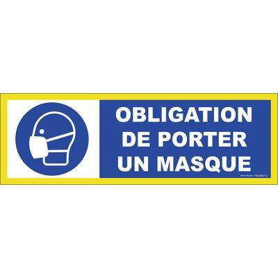 Panneau Obligation de porter un masque - Haute visibilité